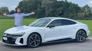 Top Speed In The Audi E-Tron GT On The German Autobahn!