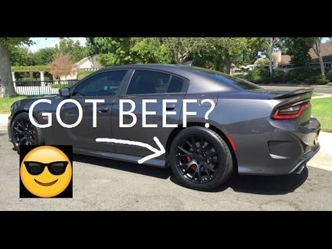 Dodge Charger Scat Pack Mods: Factory Reproduction Wheels and Tires 315/35/20 challenger