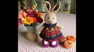 knitted bunny toys