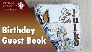 244  Birthday Guest Book - mini album