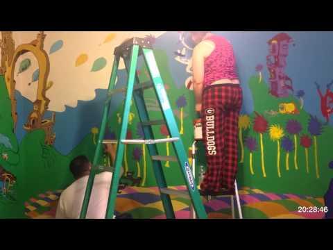 Painting Wrynn's Dr. Seuss Nursery