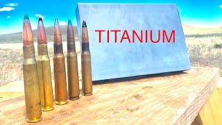 HOW STRONG IS TITANIUM? 50CAL VS TITANIUM