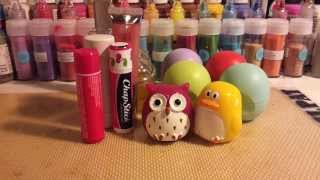 my lip balm and lipstick collection :)