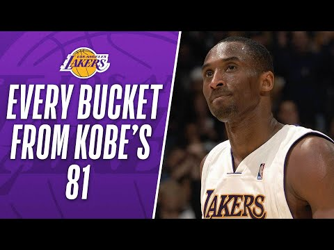 Watch All of Kobe's 81 Points in 3 Minutes