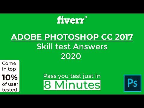 Fiverr Adobe Photoshop CC 2017 Test Answers 2020   Fiverr Skill ...
