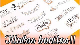 40 TÍTULOS BONITOS!! ✄ Barbs Arenas Art!
