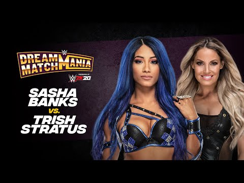 Sasha Banks and Trish Stratus square off during WWE Dream Match Mania