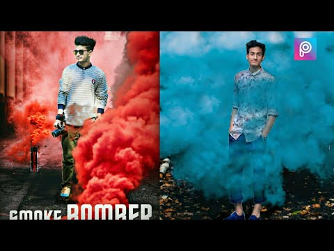 Smoke Effect Creative PicsArt Photo Editing 2018, Best Smoke Effect