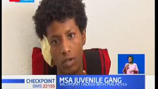 A family in Mombasa crying for justice after their kin was attacked by a juvenile gang