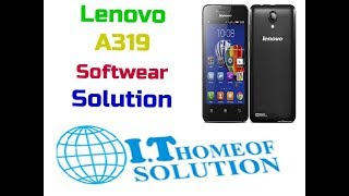Fix Stuck on logo Lenovo A319 with one click without
