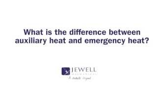 What is the difference between auxiliary heat and emergency heat?