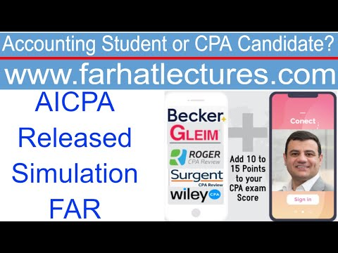 CPA AICPA Released Questions: FAR Simulation - YouTube