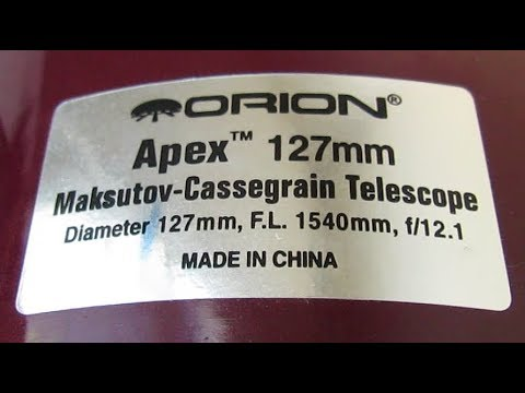 What's Inside the Orion 127mm Maksutov-Cassegrain Telescope