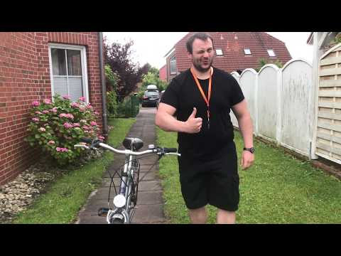 Fahrrad aufsitzen auf zwei eleganten Wegen Herrenrad aufspringen und absitzen Herrenbike Anleitung