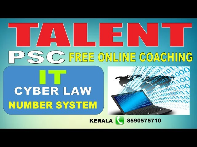 KERALA PSC | Assistant Grade | IT | CYBER LAW - NUMBER SYSTEM