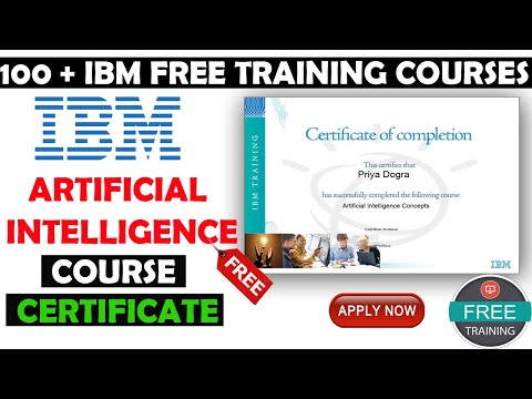 IBM Free Training & Certification Programs | IBM Free Artificial ...