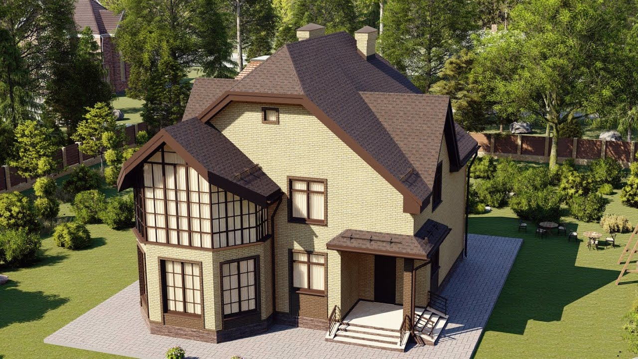 Проект дома 159-B, Площадь дома: 159 м2, Размер дома:  10,9x15,4 м
