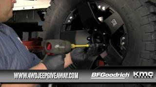 Jeep Tires & Wheels Winner: Installing BFG Tires & KMC Wheels