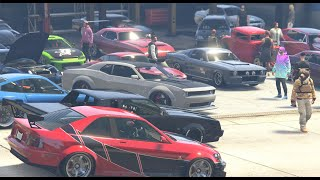 We Did A Fast And Furious Car Meet In GTA 5 Online