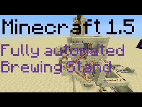 how to make a brewing stand in minecraft