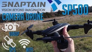 SnapTain SP500 GPS Foldable Drone With 5g WiFi fpv 1080p Camera | Unboxing and Flight
