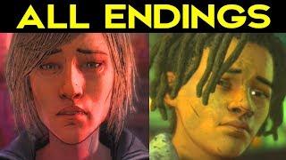 The Walking Dead Season 4 Episode 3 - ALL ENDINGS (SAVE LOUIS ENDING + SAVE VIOLET ENDING) Choices