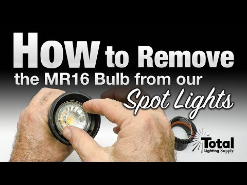 How to remove the MR16 bulb from the LED-FG1021