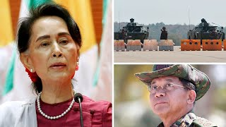 video: Myanmar coup: Suu Kyi calls for protests after military seizes power