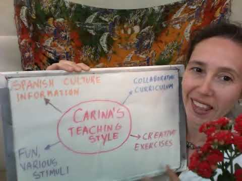 Meet Carina and learn about her way to teach Spanish.
