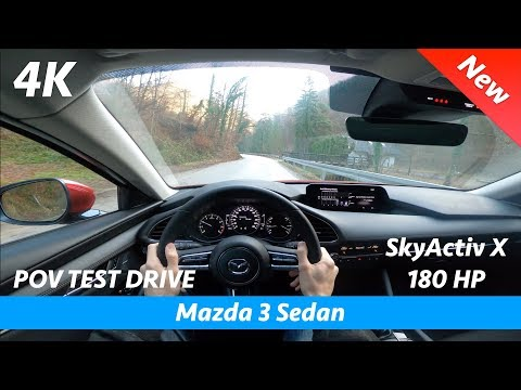 Mazda 3 Sedan 2020 - POV test drive in 4K | 2.0 SkyActiv X 180 HP (Consumption will 🤯)