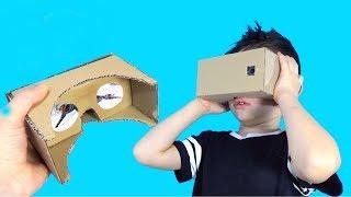 Как сделать очки ВИРТУАЛЬНОЙ РЕАЛЬНОСТИ из картона Cardboard VR BOX/ Семья Тими Тим