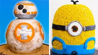 Movie Themed Cake Decoration Ideas   BB-8 Star Wars Cake & Minion Cake by So Yummy