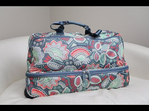 Vera Bradley Lighten Up Wheeled Carry-On in Nomadic Floral Review