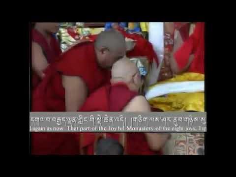 Trance of King Duldzin at Shar Gaden Monastery's Inauguration