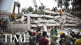 Mexico Earthquake Rescue Efforts: Rescuers Try To Save A Girl Trapped Inside A School | LIVE | TIME