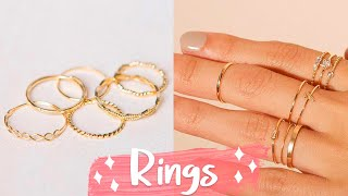 12 DIY Rings EASY & Adjustable!! How To Make A Ring | Create Your Own Accessories