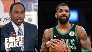 Stephen A. torn between Celtics keeping Kyrie Irving or trading him for assets | First Take