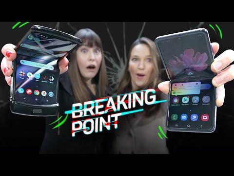 Galaxy Z Flip vs. Motorola Razr drop test