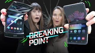 Samsung Galaxy Z Flip vs Motorola Razr drop test