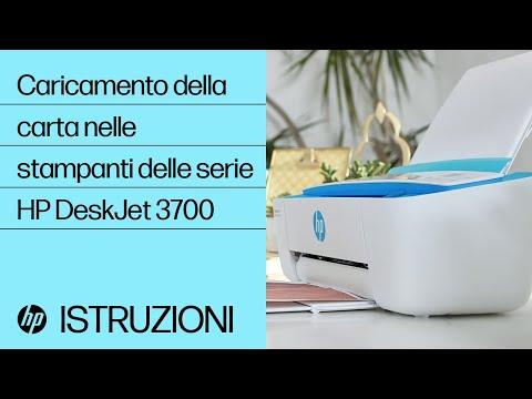 Caricamento della carta nelle stampanti delle serie HP DeskJet 3700