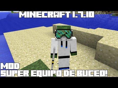 Minecraft 1.7.10 MOD SUPER EQUIPO DE BUCEO! Deep Sea Diving Mod Review Español!