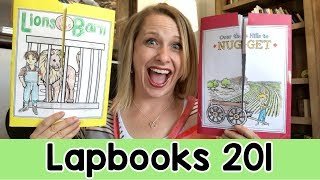 Lapbook Tutorial || How To Make A Lapbook Unit || Minibooks