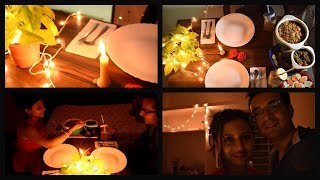 Candle light dinner at home | Romantic dinner | how to make | with recipe