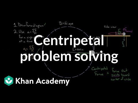 Centripetal force problem solving (video)   Khan Academy