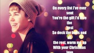 Justin Bieber - Christmas Love ( lyrics )