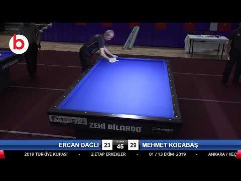 ERCAN DAĞLI & MEHMET KOCABAŞ Bilardo Maçı - 2019 TÜRKİYE KUPASI 2.ETAP ERKEKLER-2.TUR