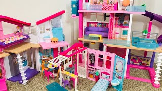 Barbie Dream House Vs Malibu House Vs Close & Go House!!