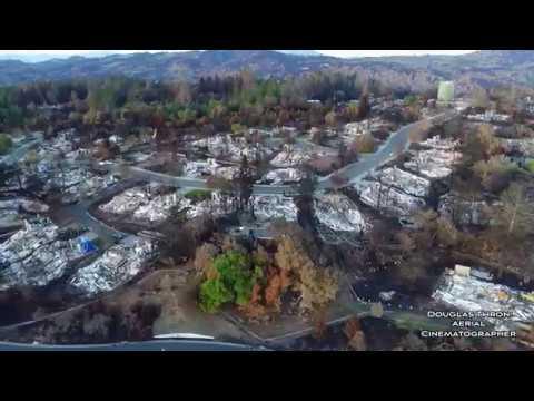 Santa Rosa Fires - NOVEMBER 24 - 30 Sec News Clip - Drone Video by Douglas ThronTubbs  Fountaingrove