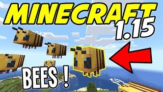 Minecraft - NEW! Bees, Bee Hive, Honey and Honeycomb! (Minecraft 1.15 Snapshot 19w34a)
