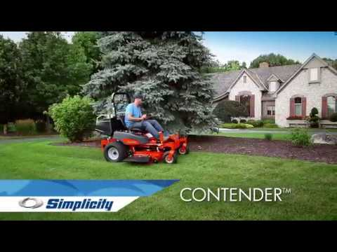 2019 Simplicity Contender 25/61 in. Zero Turn Mower in Lafayette, Indiana - Video 1